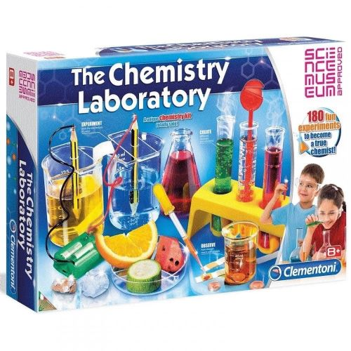 Clementoni The Chemistry Laboratory Set 61284 with 180 Experiments Science 8+